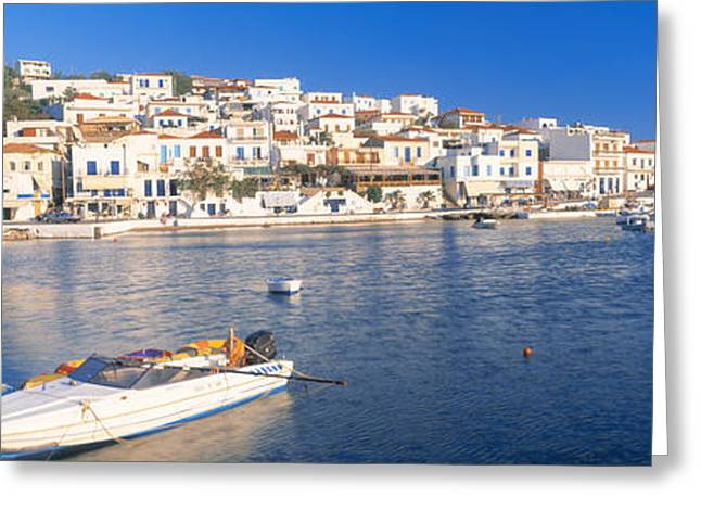 Small Towns Greeting Cards - Andros, Cyclades, Greece Greeting Card by Panoramic Images