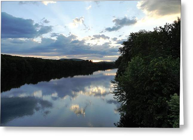 Androscoggin Greeting Cards - Androscoggin River Reflections Greeting Card by Mike Breau