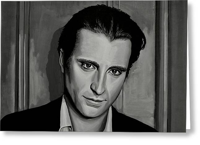 Fame Greeting Cards - Andy Garcia Greeting Card by Paul Meijering