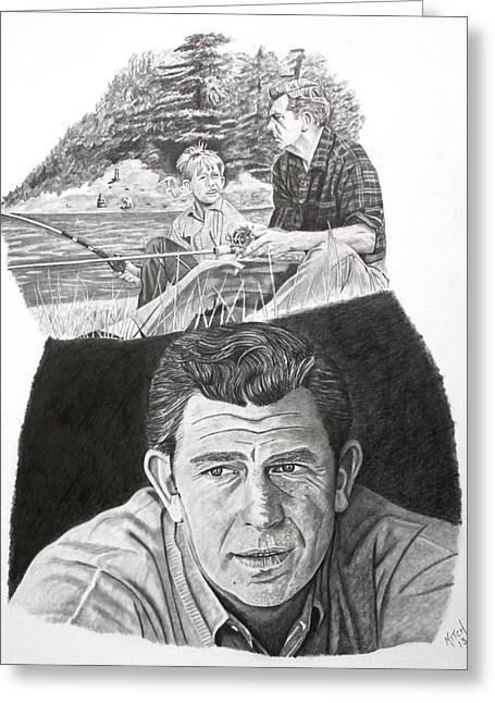 Andy Griffith Show Greeting Cards - Andy Griffith Greeting Card by Randy Mitchell
