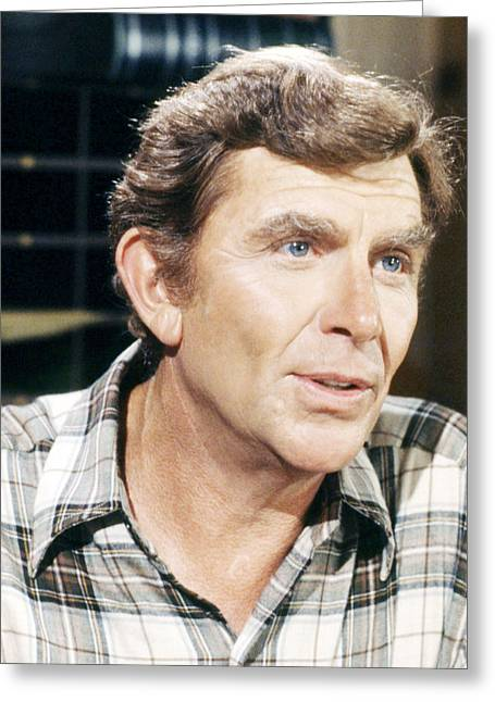 Andy Griffith Greeting Cards - Andy Griffith Greeting Card by Silver Screen