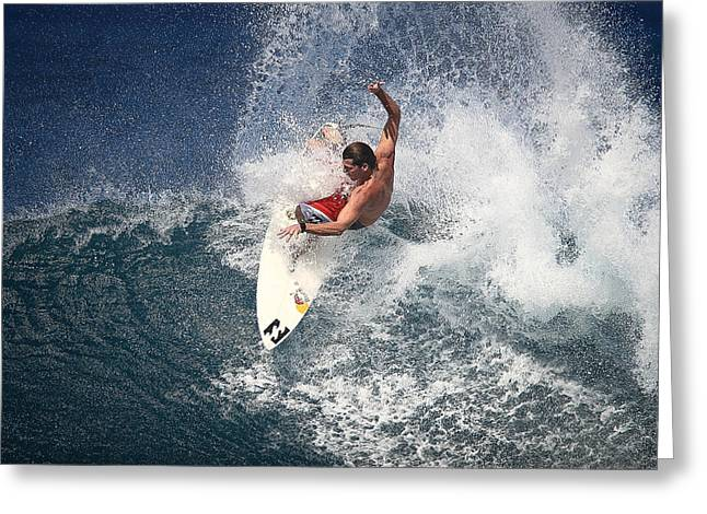 Surfing Photos Greeting Cards - Andy Irons at Off The Wall Greeting Card by Richard Cheski