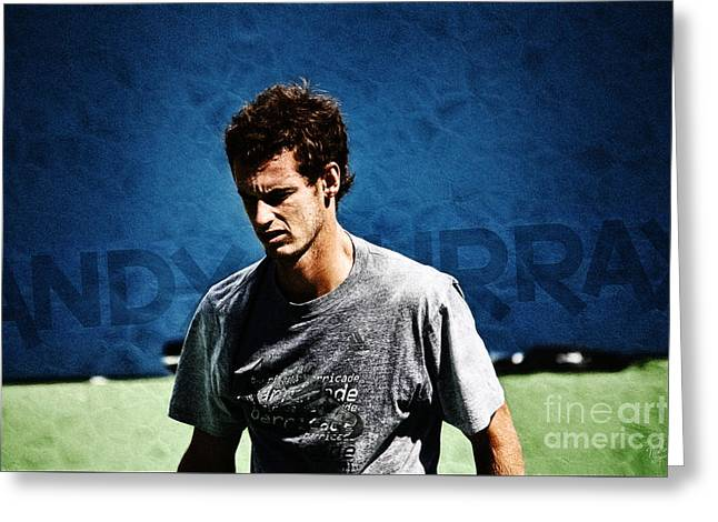 French Open Digital Greeting Cards - Andy Murray Greeting Card by Nishanth Gopinathan