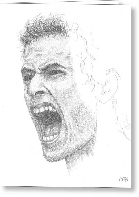 Slam Drawings Greeting Cards - Andy Murray Sketch Greeting Card by Conor OBrien
