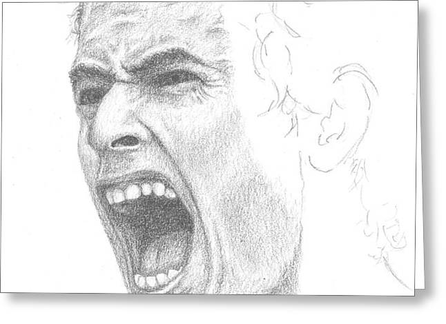 Andy Murray Sketch Greeting Card by Conor OBrien