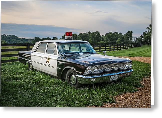 Andy Griffith Show Greeting Cards - Andys Car Greeting Card by EG Kight