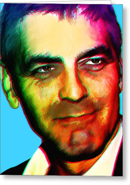 Clooney Greeting Cards - ANDYs Clooney Greeting Card by Brian King