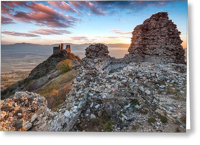Kale Greeting Cards - Anevo Fortress Greeting Card by Evgeni Dinev