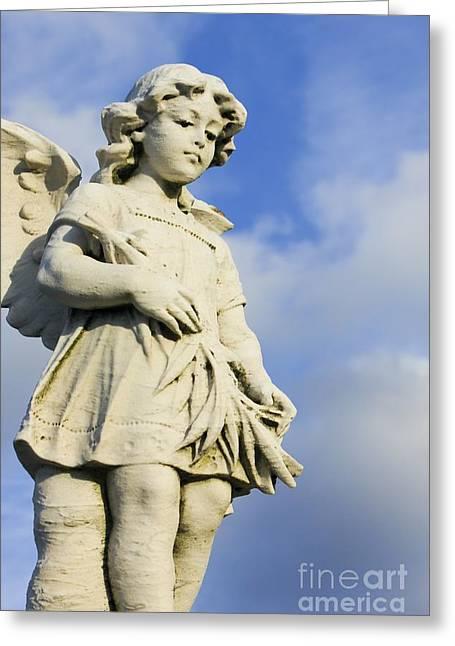 Guardian Angel Greeting Cards - Angel 2 Greeting Card by Sophie Vigneault