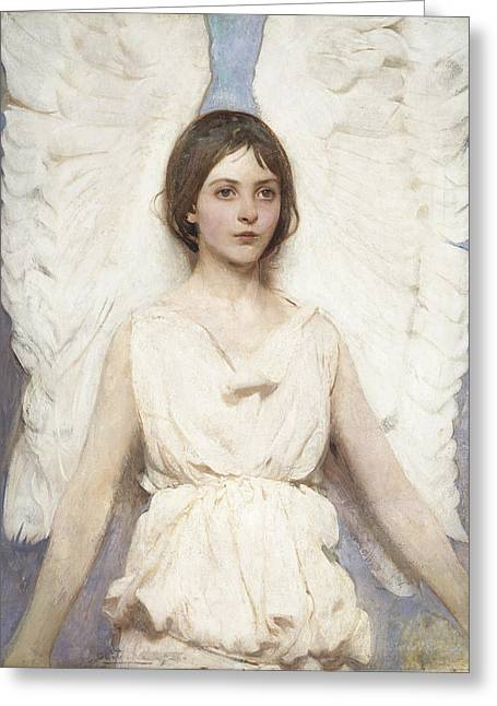 Bravery Greeting Cards - Angel Greeting Card by Celestial Images