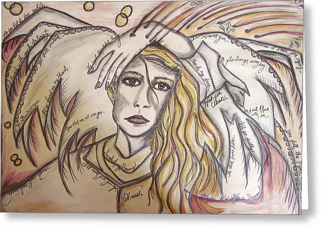 Divorce Greeting Cards - Angel Ache Greeting Card by Sherry Sharp