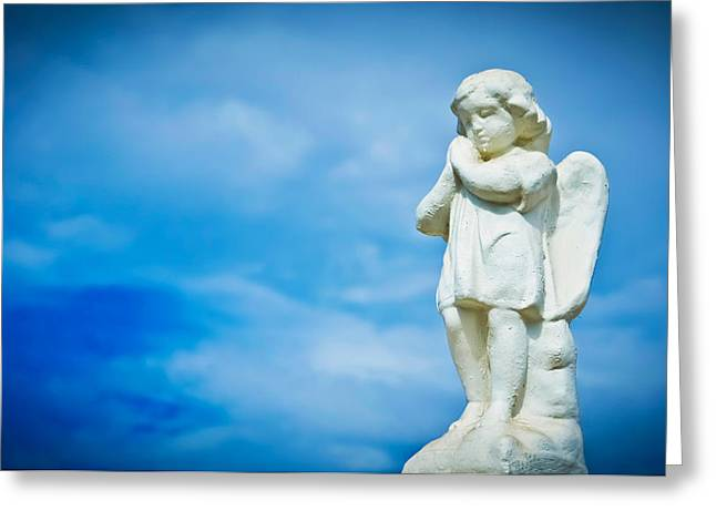 Artist Photographs Greeting Cards - Angel Greeting Card by Aged Pixel