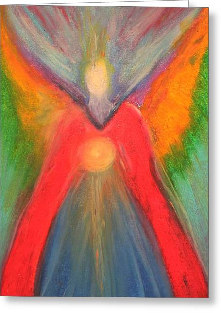 Therapy Pastels Greeting Cards - Angel Greeting Card by Alma Yamazaki