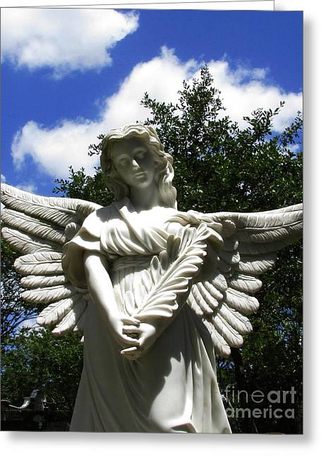Floral Photographs Sculptures Greeting Cards - Angel and Blue Sky Greeting Card by Nathan Little