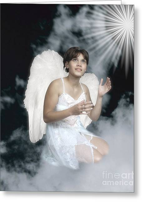 Photography By Govan. Vertical Format Greeting Cards - Angel Greeting Card by Andrew Govan Dantzler
