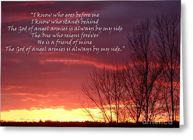 Strength Spiritual Greeting Cards - Angel Armies  Greeting Card by Diane E Berry