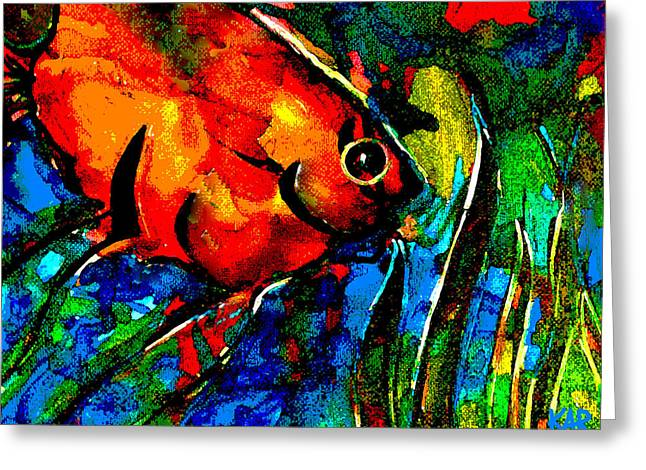 Snorkel Mixed Media Greeting Cards - Angel Greeting Card by Art by Kar