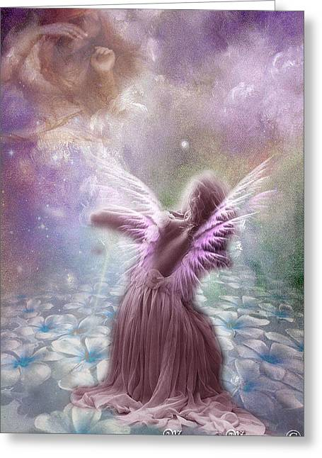 Angels Breath Greeting Cards - Angel Breath Greeting Card by Maryam Morrison