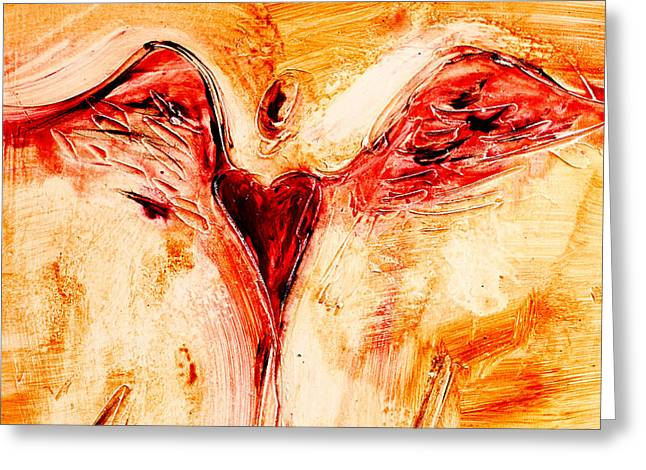 Family Love Greeting Cards - Angel de Amor Greeting Card by Ivan Guaderrama