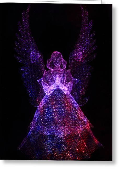 Purple Robe Photographs Greeting Cards - Angel Dots Greeting Card by Dana Bechler