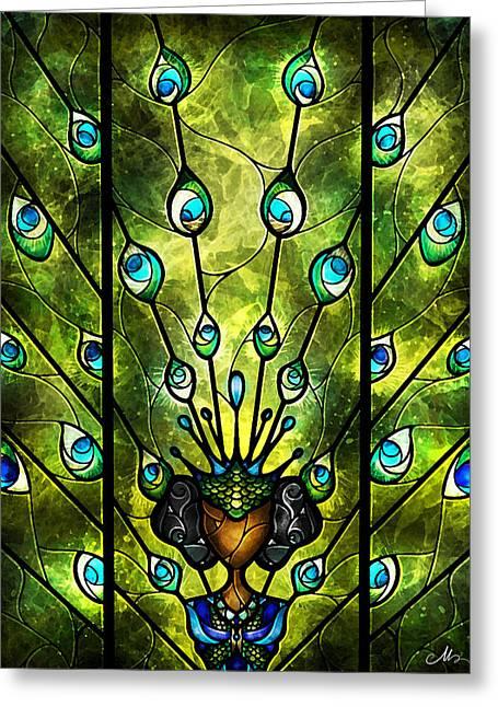 Vitrail Greeting Cards - Angel Eyes Greeting Card by Mandie Manzano