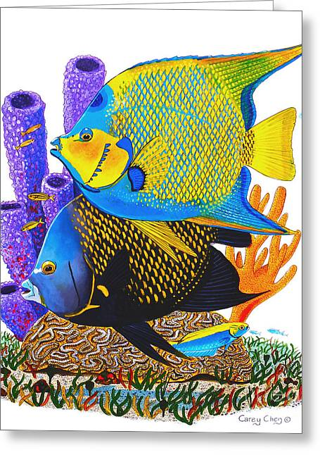 Supply Greeting Cards - Angel Fish Greeting Card by Carey Chen