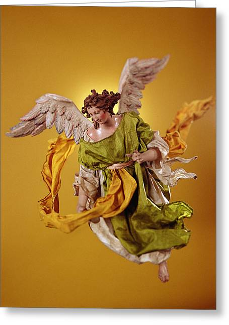 Angel, From The Christmas Creche And Tree Terracotta & Cloth Greeting Card by Neapolitan School