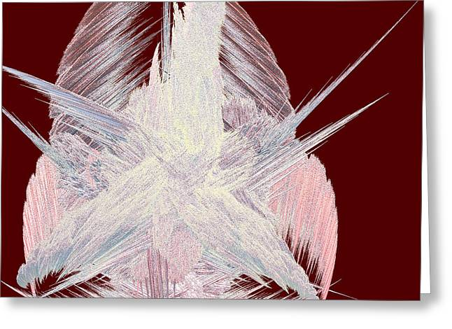 Geometrical Art Greeting Cards - Angel Heart by jammer Greeting Card by First Star Art