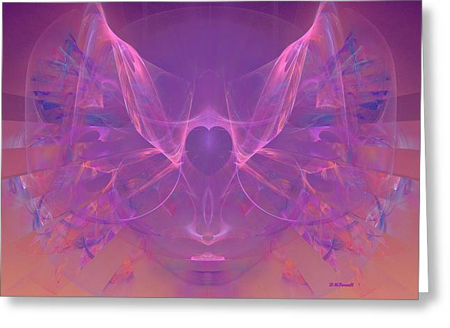 Angel Heart - Dedicated To Women In Service To Others Greeting Card by Diane Parnell