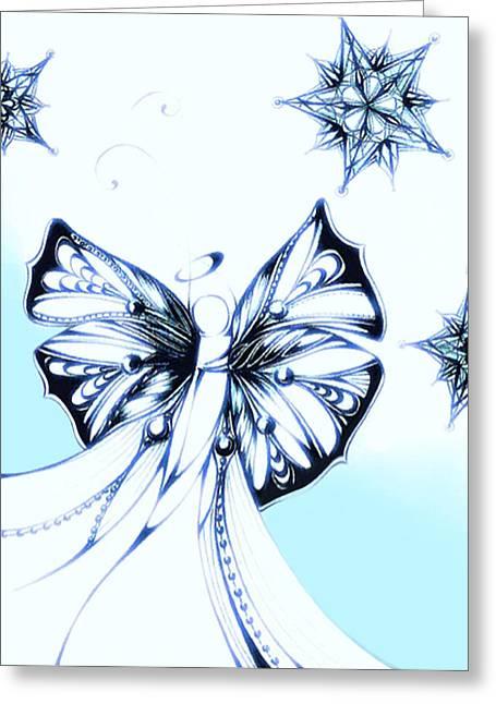 Andrea Carroll Greeting Cards - Angel I Greeting Card by Andrea Carroll