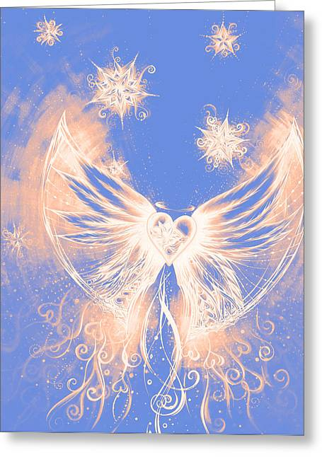 Andrea Drawings Greeting Cards - Angel II Greeting Card by Andrea Carroll