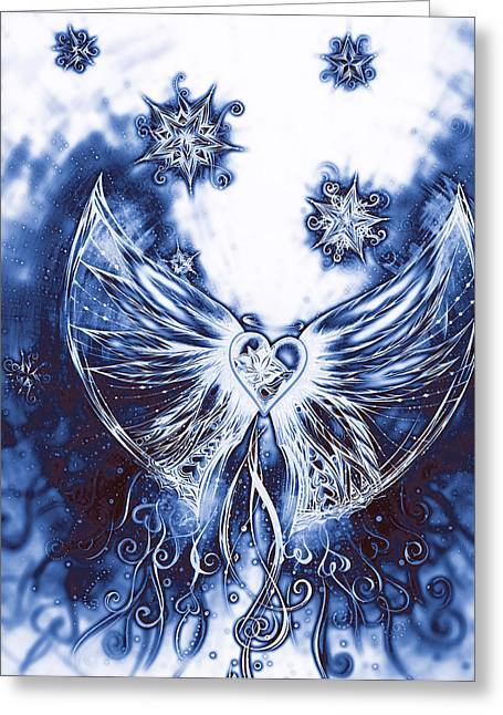 Andrea Drawings Greeting Cards - Angel III Greeting Card by Andrea Carroll