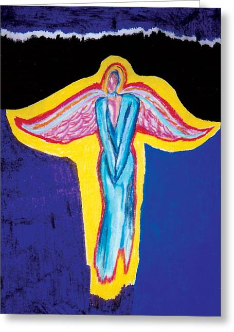Conceptual Pastels Greeting Cards - Angel in Red Greeting Card by Mike Manzi