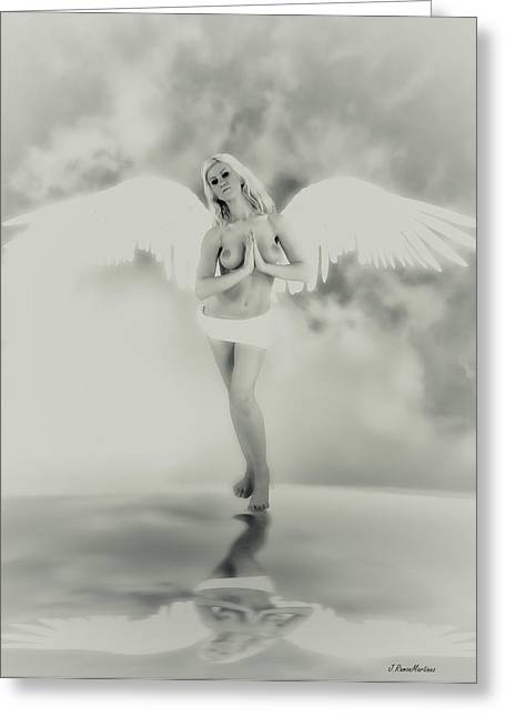 Reflex Greeting Cards - Angel in  sepia tone Greeting Card by Ramon Martinez