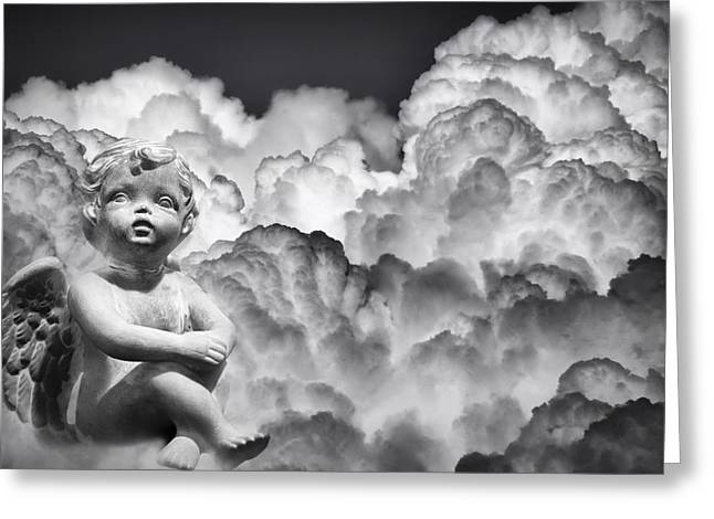 Composite Photo Greeting Cards - Angel in the Clouds Greeting Card by Carolyn Marshall