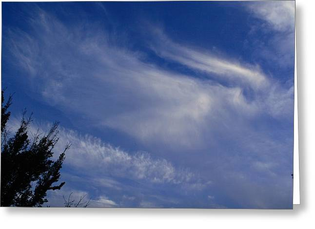 Interesting Clouds Greeting Cards - Angel in the Sky Greeting Card by Linda Unger