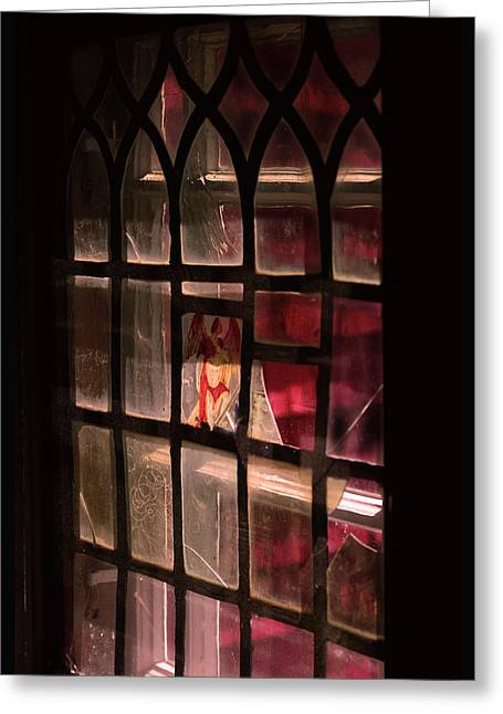 Advent Greeting Cards - Angel in the window Greeting Card by Toppart Sweden