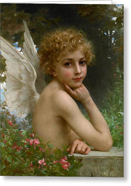 Angel Greeting Card by Jules Cyrille Cave