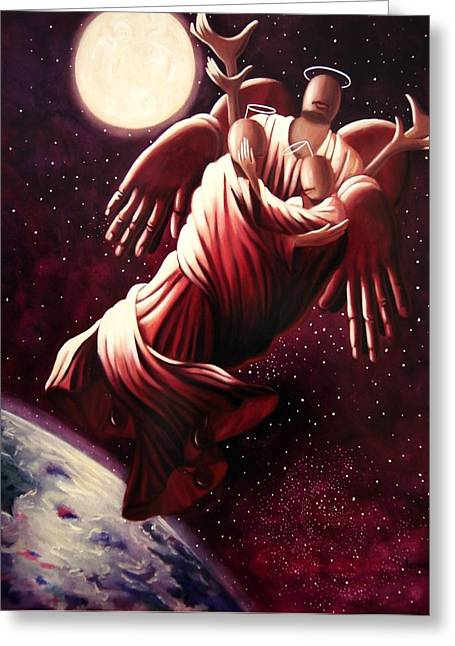 Christian Acrylic Prints Greeting Cards - Angel Love Greeting Card by Anthony Falbo