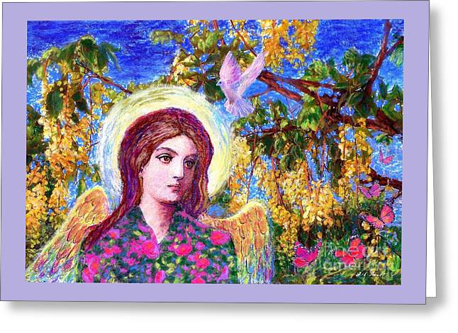 Angel Love Greeting Card by Jane Small