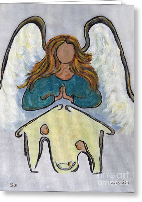 Christmas Eve Greeting Cards - Angel - Messenger of Joy Greeting Card by Ella Kaye Dickey