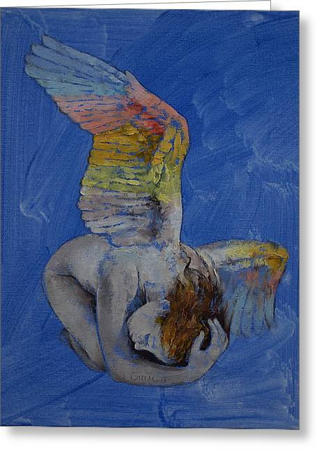 Mujer Greeting Cards - Angel Greeting Card by Michael Creese