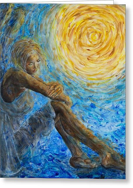 Nik Helbig Greeting Cards - Angel Moon II Greeting Card by Nik Helbig