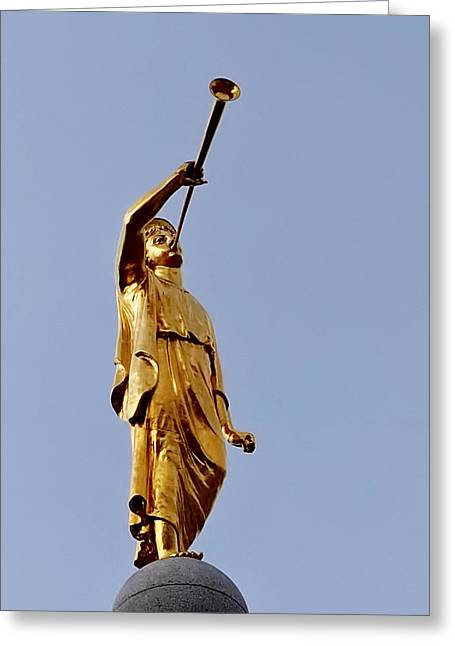 Salt Lake Temple Greeting Cards - Angel Moroni Greeting Card by Rona Black