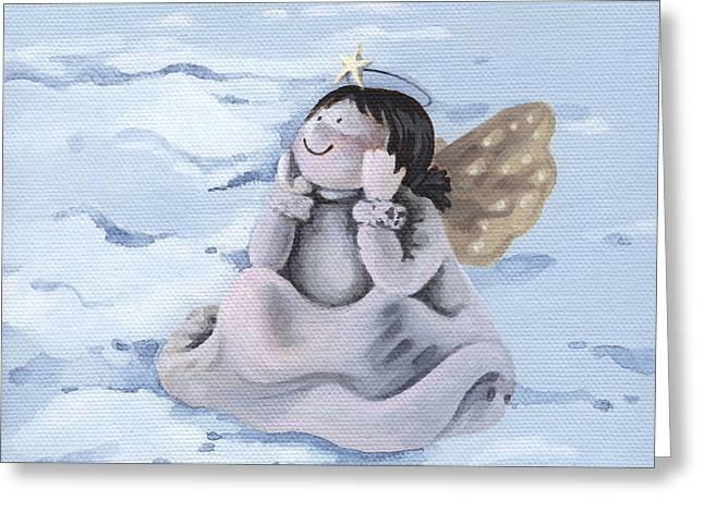 Angel Greeting Card by Natasha Denger