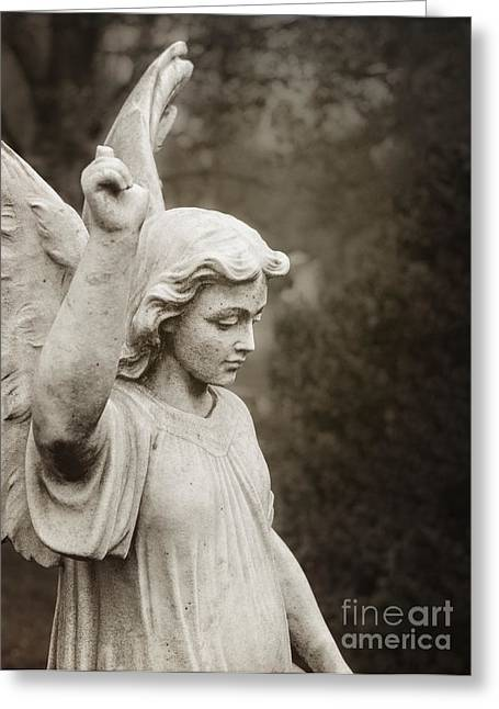 Interior Scene Greeting Cards - Angel of Comfort Greeting Card by Terry Rowe