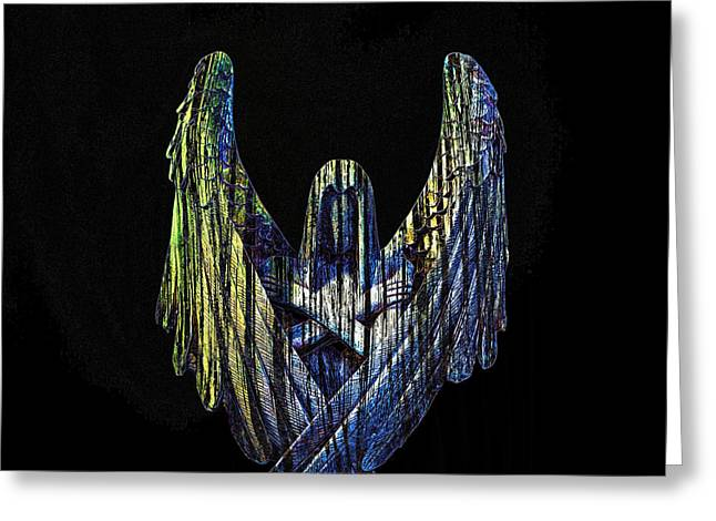 Dark Angels Greeting Cards - Angel Of Death Greeting Card by Bill Tiepelman