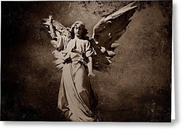 Samuel Greeting Cards - Angel of Death S Greeting Card by David Dehner