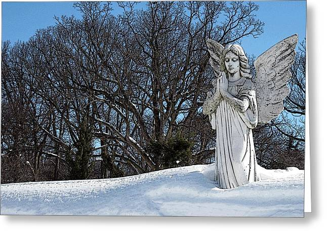 Missing Child Digital Art Greeting Cards - Angel of Eternal Sunshine Greeting Card by Teak  Bird