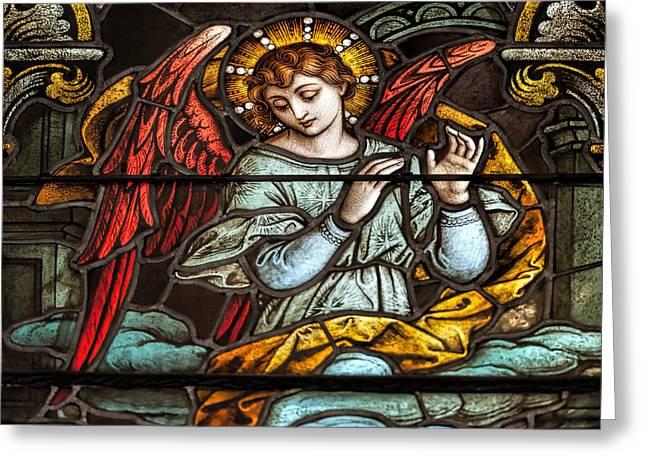 Guardian Angel Greeting Cards - Angel of God My Guardian Dear Greeting Card by Bonnie Barry